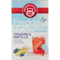 Pompadour Fredde Infusioni Zenzero & Mirtillo 18 x 2,5 gr.