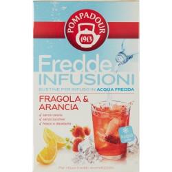 Pompadour Fredde Infusioni Fragola & Arancia 18 x 2,5 gr.