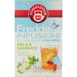 Pompadour Fredde Infusioni Mela & Sambuco 18 x 2,5 gr