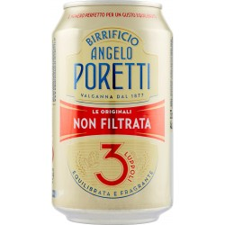 Birrificio Angelo Poretti Le Originali 3 Luppoli Non Filtrata lattina 33 cl