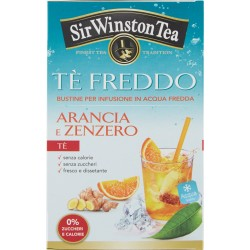 Sir Winston Tea Tè Freddo Arancia e Zenzero 18 x 2,5 gr.