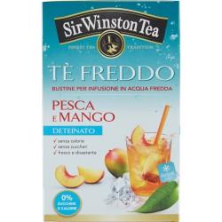 Sir Winston Tea Tè Freddo Pesca e Mango Deteinato 18 x 2,5 gr.