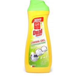 Dual Power Crema Gel Sgrassatore Limone 3 in 1 cucina, bagno, pavimenti ml.700