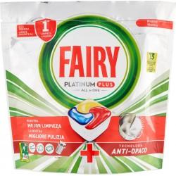 Fairy Platinum Plus Detersivo in Caps per Lavastoviglie, Confezione da 13 pastiglie, Limone