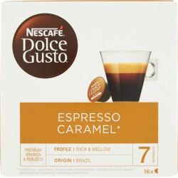 NESCAFÉ DOLCE GUSTO ESPRESSO CARAMEL Caffè espresso al caramello 16 capsule (16 tazze)