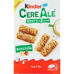Kinder CereAlé Biscotti ai 7 cereali nocciola 6 astucci da 2 biscotti 204 gR.