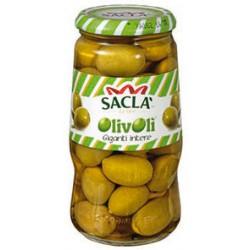 Sacla olive verdi giganti - gr.560