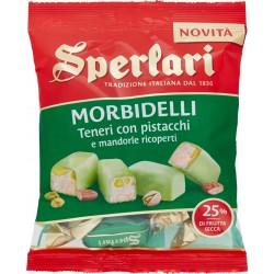 Sperlari Morbidelli Teneri con pistacchi e mandorle ricoperti 130 gr.