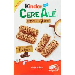 Kinder CereAlé Biscotti ai 7 cereali gocce di cioccolato fondente 6 astucci da 2 biscotti 204 gR.
