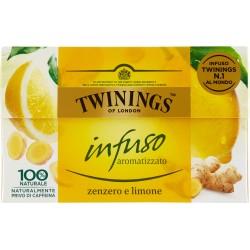 Twinings Infuso Aromatizzato Zenzero e Limone 20 x 1,5 g