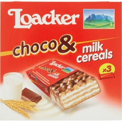 Loacker Choco & Milk Cereals 3 x 25 g