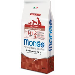Monge dog all breeds agnello riso kg.12