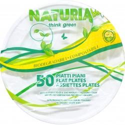 aristea piatti piani plastica bio pezzi 50