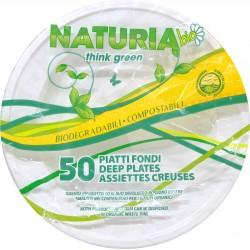 Aristea piatti fondi plastica bio pezzi 50