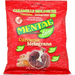 Mental caramelle bio curcuma/melograno gr.90