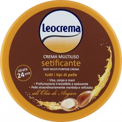 Leocrema Crema Multiuso setificante tutti i tipi di pelle all'Olio di Argan 150 ml.