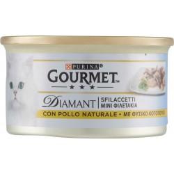 PURINA GOURMET Diamant Gatto Sfilaccetti con Pollo Naturale lattina 85gr.
