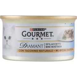 PURINA GOURMET Diamant Gatto Sfilaccetti con Tacchino Naturale lattina 85gr.