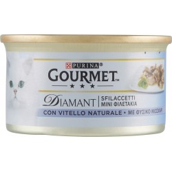 PURINA GOURMET Diamant Gatto Sfilaccetti con Vitello Naturale lattina 85gr.