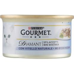 PURINA GOURMET Diamant Gatto Sfilaccetti con Vitello Naturale lattina 85gr.