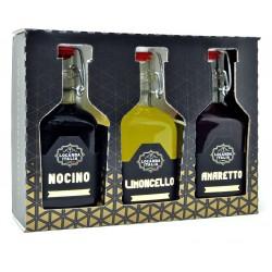 Locanda Italia tris liquori mignon (nocino-limoncello-amaretto) cl.10x3