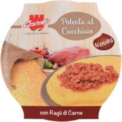 Castello polenta con ragu di carne gr.350