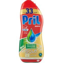 PRIL GOLD Gel Sciogli-grasso 600 ml. - 33 lavaggi