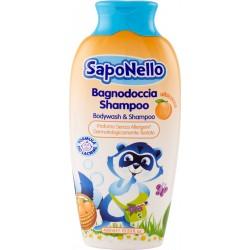 SapoNello Bagnodoccia Shampoo albicocca 400 ml.