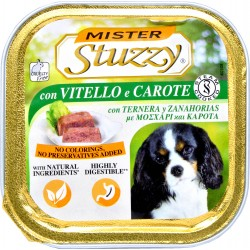 Mister Stuzzy Dog vitello carote gr.150