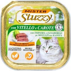 Mister Stuzzy Cat vitello e carote gr.100
