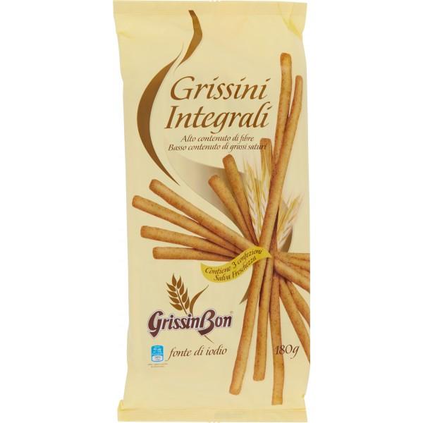 Ricetta Per Grissini Integrali Rustici.Grissinbon Grissini Integrali Con Fibre Grissini Confezionati Gr 180