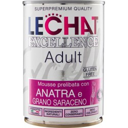 LeChat Excellence Adult Mousse prelibata con Anatra e Grano Saraceno 400 gr.