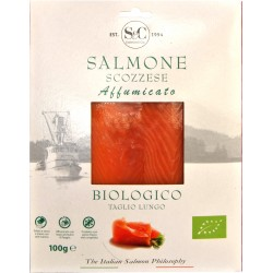 Salmone affumicato scozzese bio gr.100