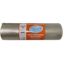 Soft Soft sacchetti pattumiera condominio neutri cm.85x120 pz.10