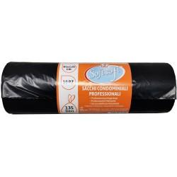 Soft Soft sacchetti pattumiera condominio nero cm.85x120 pz.10