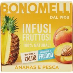 Bonomelli Infusi Fruttosi 100% Naturali Ananas e Pesca 12 Filtri 24 g