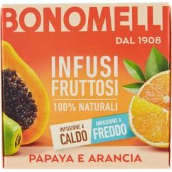 Bonomelli Infusi Fruttosi 100% Naturali Papaya e Arancia 12 Filtri 24 g