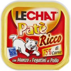 LeChat Patè ricco con manzo e fegatini di pollo 100 g