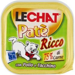 LeChat Patè ricco con pollo e tacchino 100 g