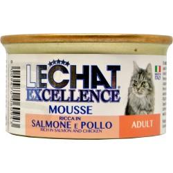 Lechat mousse adult salmone e pollo gr.85