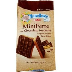 Mulino Bianco Mini Fette con Cioccolato fondente 110 gr.