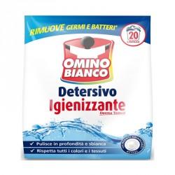 Omino bianco detersivo lavatrice in polvere igienizzante 20 lavaggi