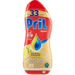 PRIL GOLD Gel Limone 600 ml. - 33 lavaggi