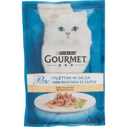 PURINA GOURMET Perle Gatto Filettini con Tacchino Busta 85 gr.