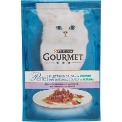PURINA GOURMET Perle Gatto Filettini con Selvaggina e Verdure Busta 85 gr.