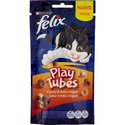 PURINA FELIX Playtubes Snack Gatto al Gusto di Pollo e Fegato busta 50g
