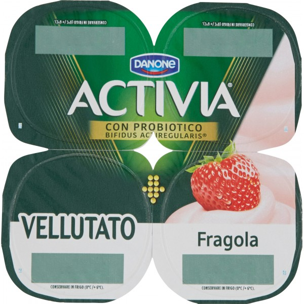 Activia Vellutato Fragola 4 x 125 gr.