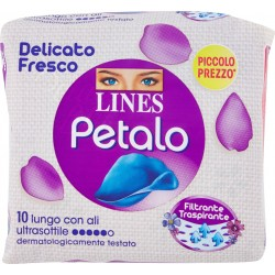 Lines Petalo Blu lungo con ali x10