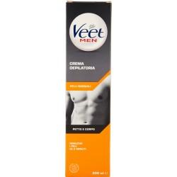 Veet Men Crema Depilatoria Pelli Normali Petto e Corpo 200 ml.