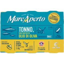 MareAperto Tonno, Solo un Filo di Olio di Oliva e un Pizzico di Sale 6 x 60 gr.